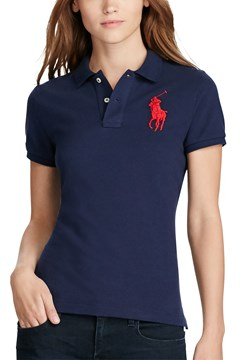 Skinny Fit Big Pony Polo Shirt NAVY 1