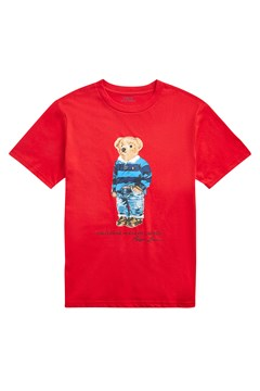 Rugby Bear Cotton Jersey Tee RED 1