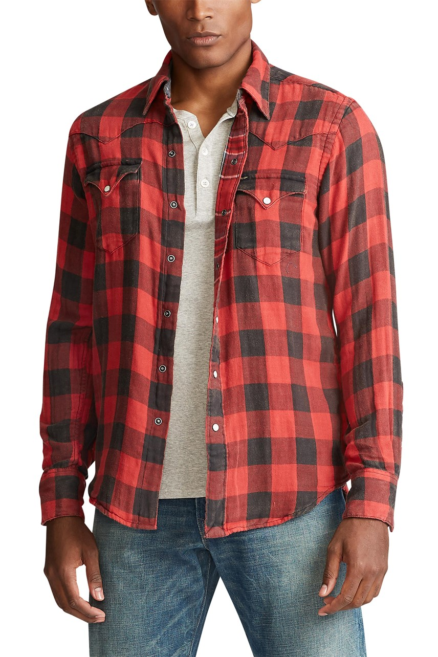 Custom Fit Plaid Twill Shirt