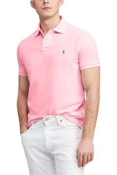 Custom Slim Fit Mesh Polo F34 1