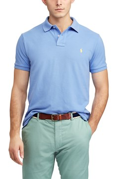 Custom Slim Fit Mesh Polo B28 1