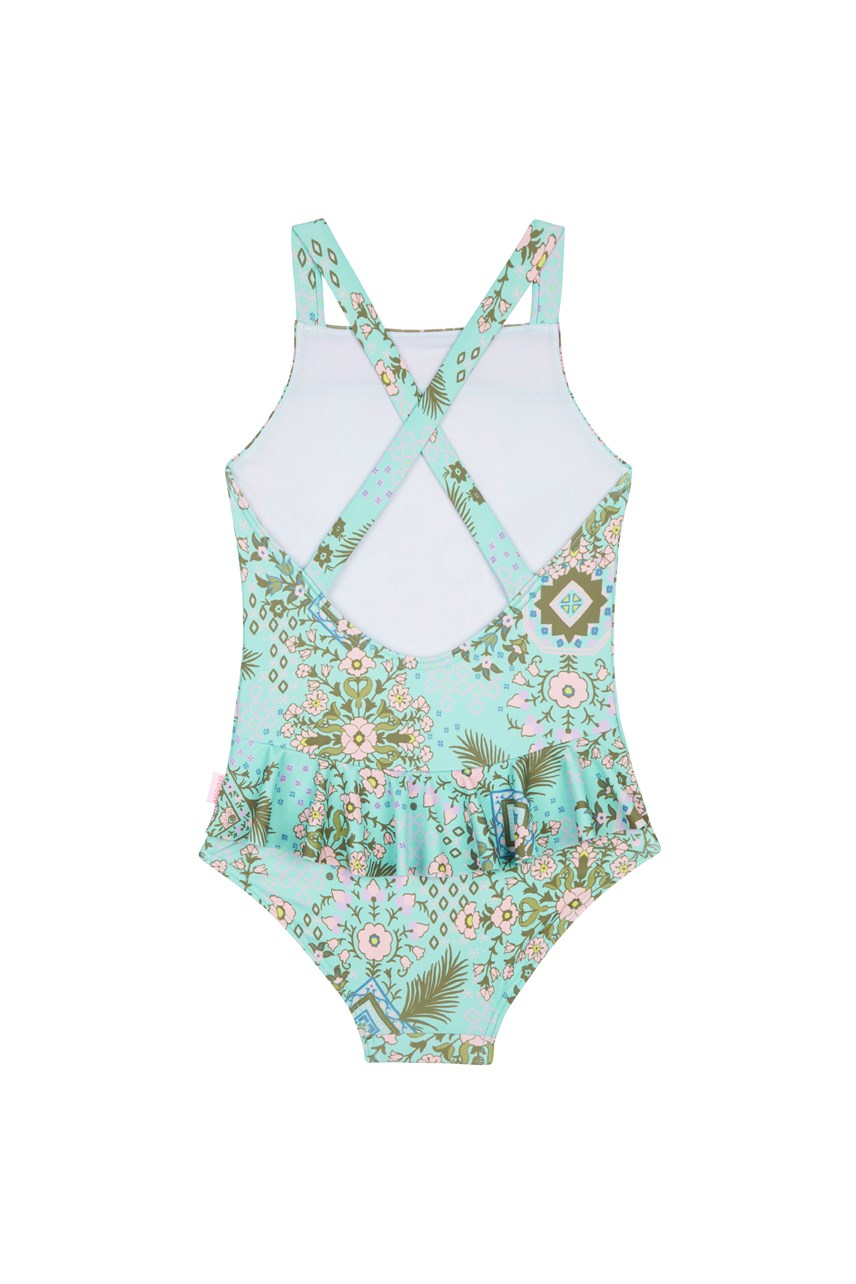 Folk Floral Swimsuit