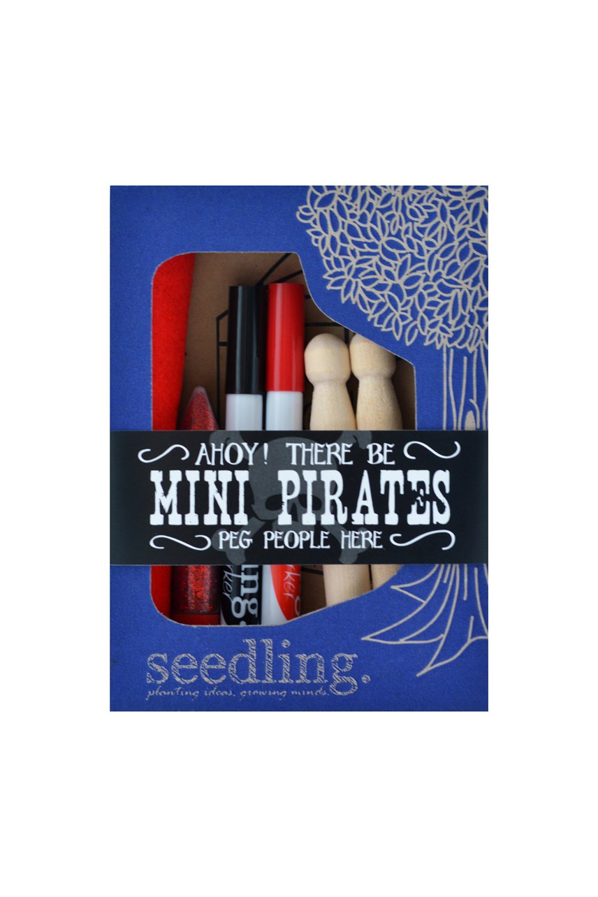 Ahoy! Mini Pirates Peg People Kit