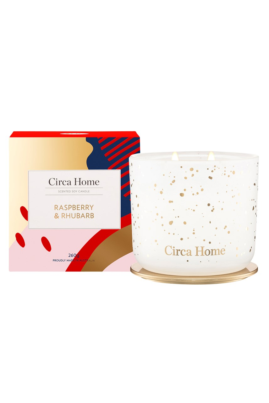 Limited Edition Raspberry & Rhubarb Candle - 260g