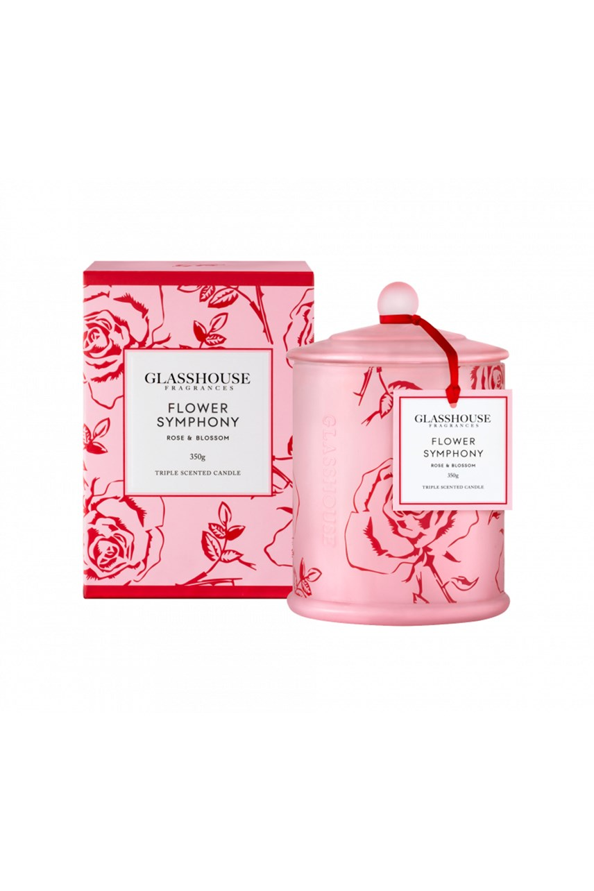 Limited Edition Flower Symphony Rose & Blossom Triple Scented Candle