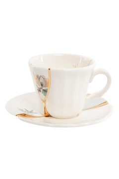 Kintsugi N3 Coffee Cup with Saucer 1