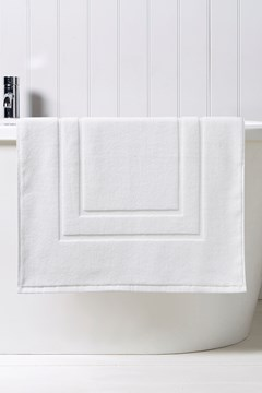 Brixton Bath Mat - white