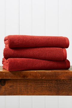 Brixton Bath Sheet - cinnabar