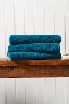 Brixton Bath Sheet - peacock