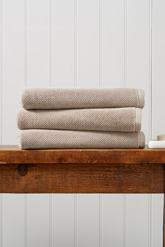 Brixton Bath Sheet - pebble