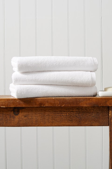 Brixton Bath Towel - white