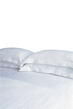 Deluxe Collection Waffle Duvet Cover Set - Super King WHITE 1