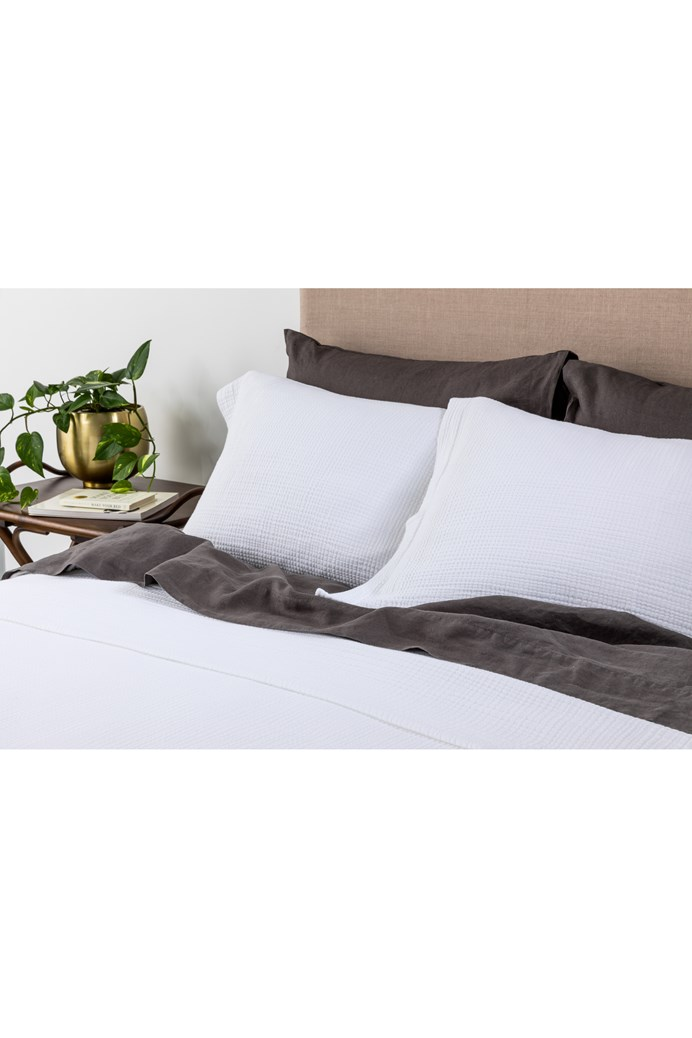 Santos White Coverlet Set