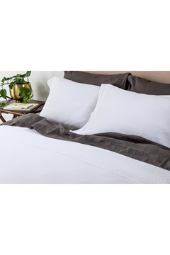 Santos White Euro Pillowcase WHITE 1