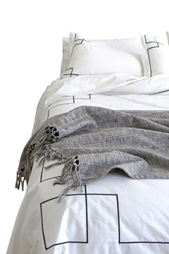 Empire Duvet Set - Black BLACK WHITE 1