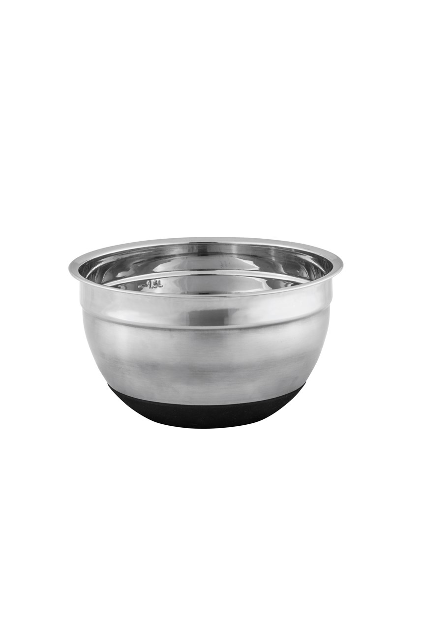 Anti-Slip Stainless Steel Mixing Bowl - 18cm