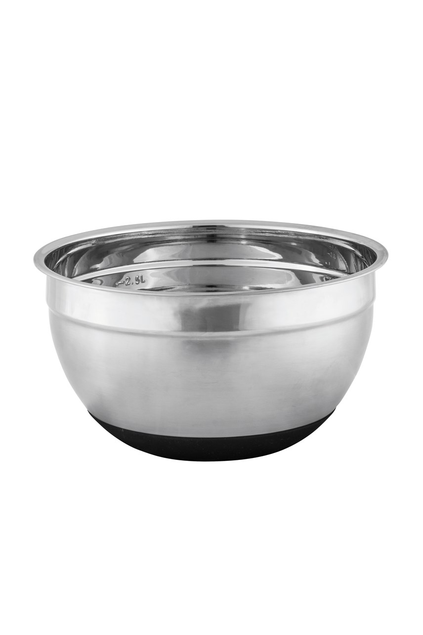 Anti-Slip Stainless Steel Mixing Bowl - 22cm