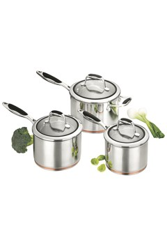'Coppernox' 3 Piece Saucepan Set -