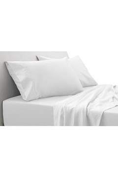 1000TC Hotel Weight Luxury Sheet Set 40cm SNOW 1