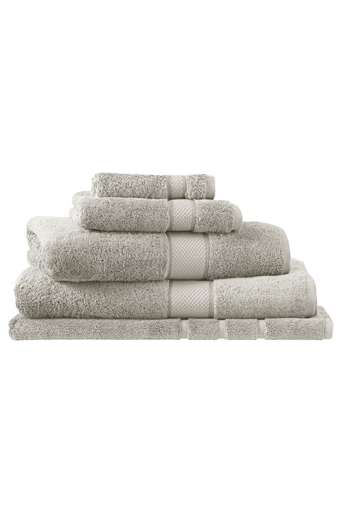 Luxury Egyptian Cotton Towel Collection - Silver - silver