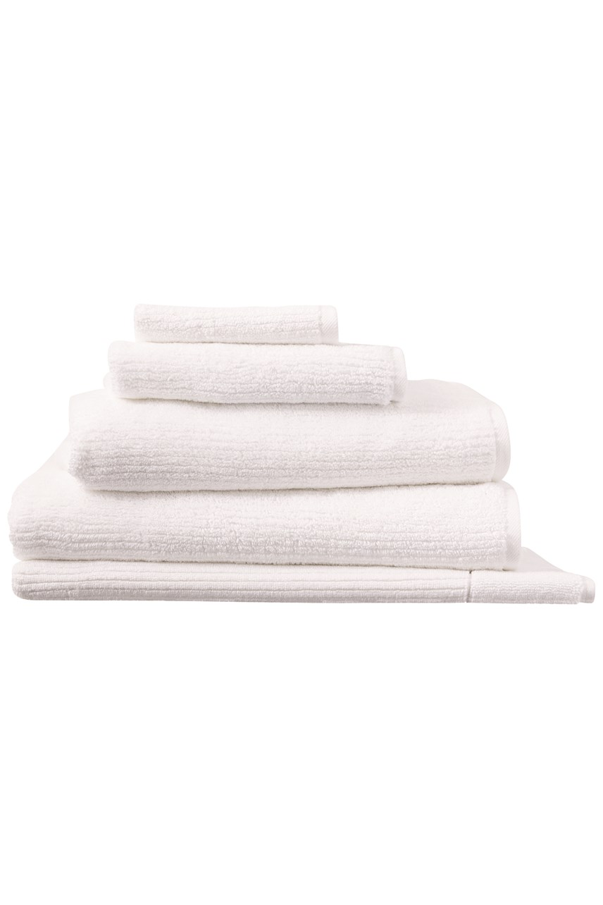 Living Textures Towel Collection - White