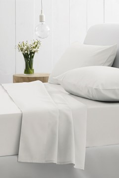 500 Thread Count Blended Twill Sheet Set Snow 1