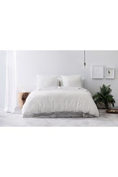 Giles Organic Cotton Standard Quilt Cover - white