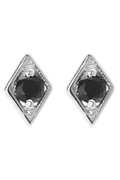Keepsake Stud Earrings - black silver