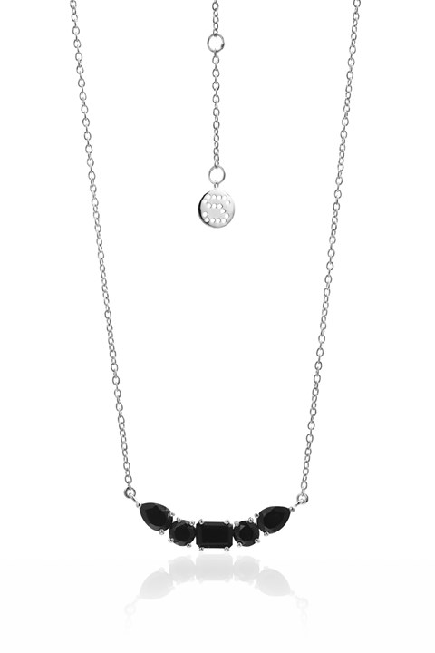Amore Necklace - black silver
