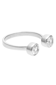 Double Take Ring - white topaz silver