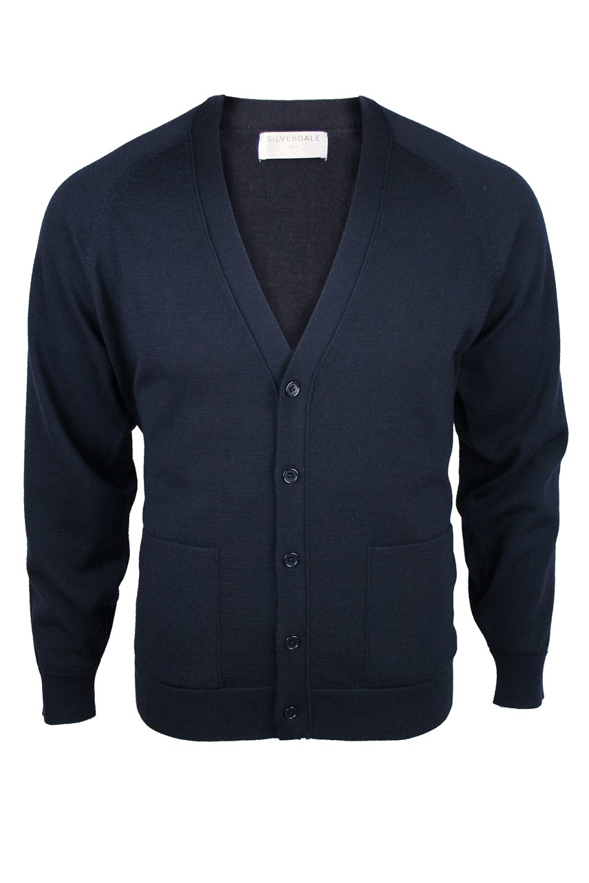 Super 2/50'S Fine Merino V-Neck Cardigan