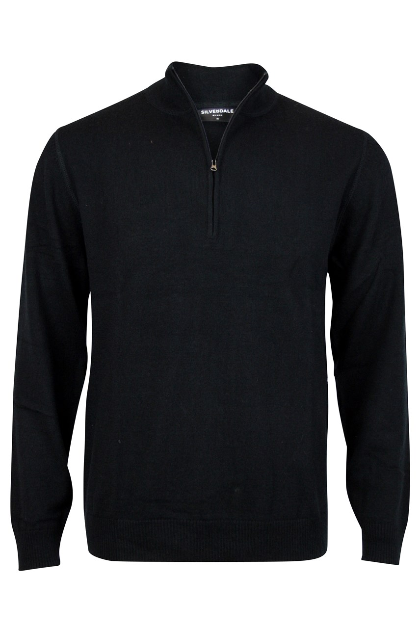 Fine Merino Tailored Fit Quarter Zip Jersey