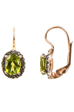 Peridot & Crystal Drop Earrings PERIDOT CRYSTAL 1