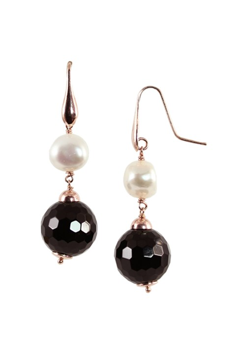 Pearl Earrings - pearl black