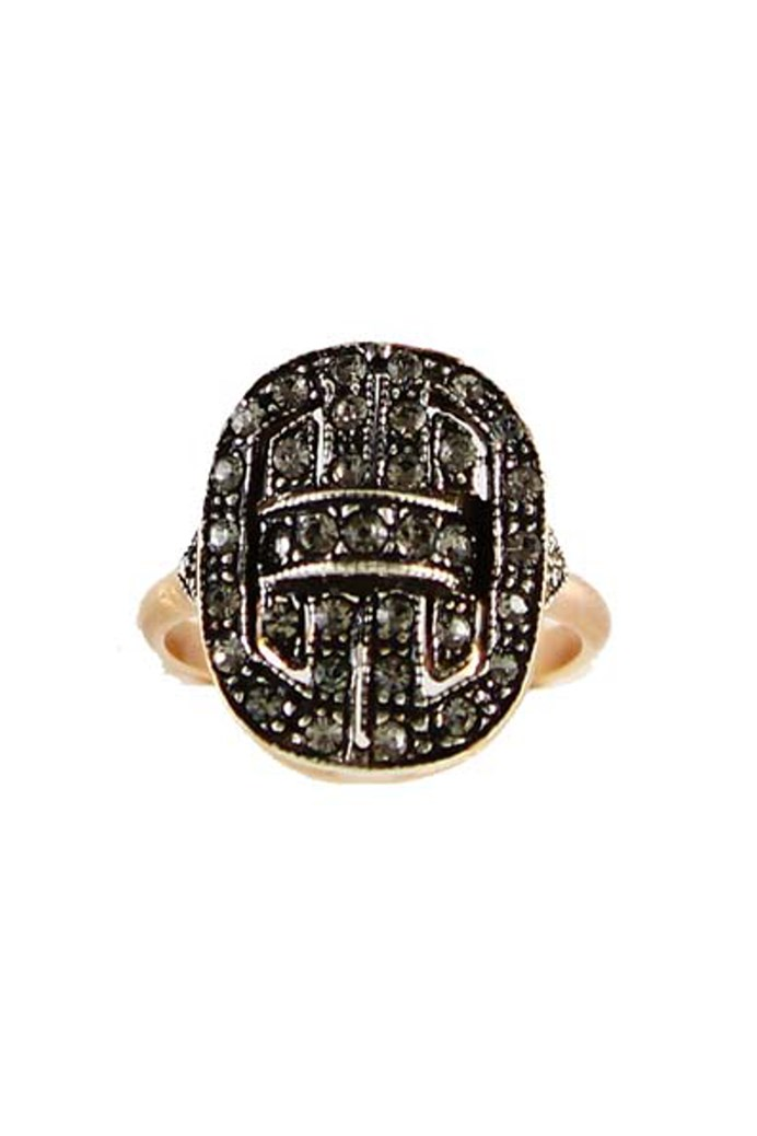 Fume Deco Rectangle Ring