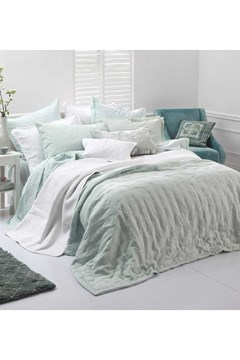 Laundered Linen Bedspread Set DUCKEGG 1