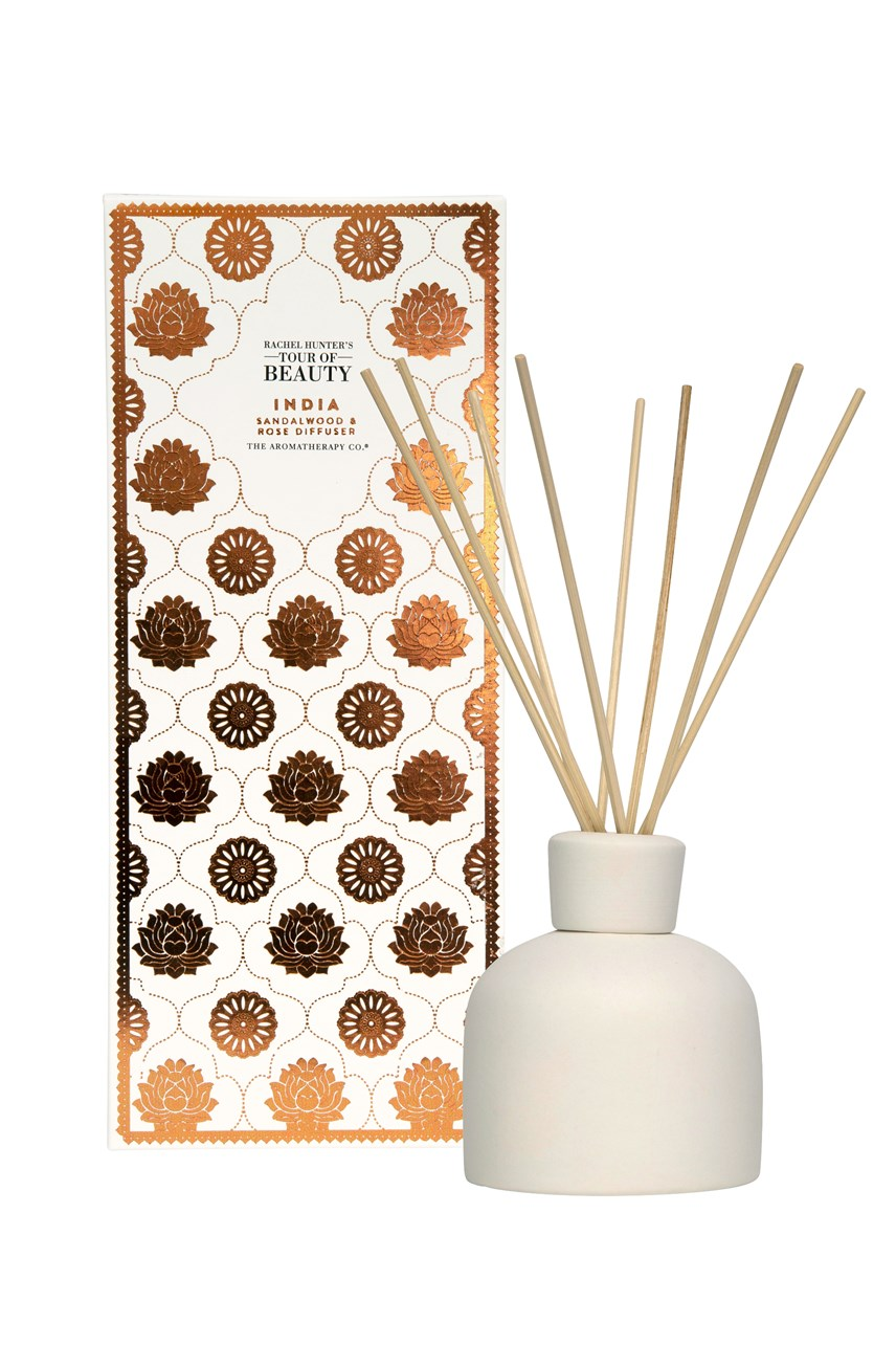 Rachel Hunter's Tour of Beauty Diffuser - India - Sandalwood and Rose