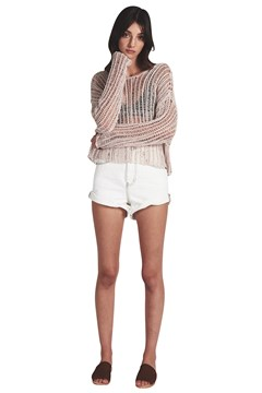 Beach Shack Knit Top CREAM 1
