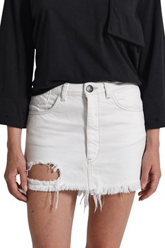 Vanguard Mid Rise Denim Skirt NATUR WHITE 1
