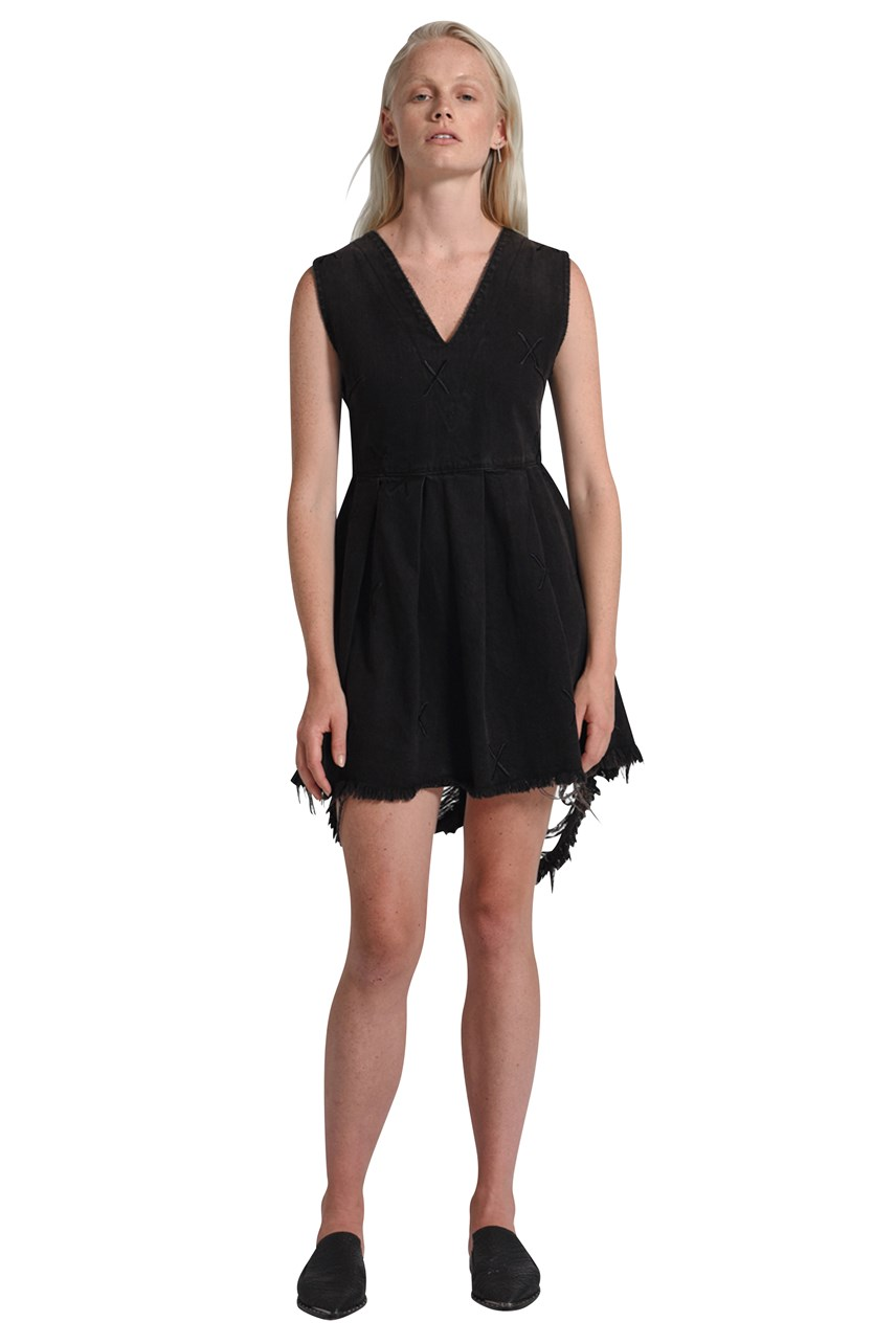 Black X Metal Destroyed Anna Dress