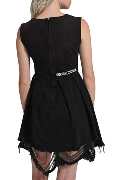 Black X Metal Destroyed Anna Dress - blk x metal