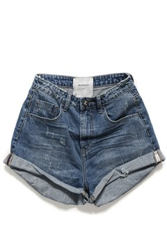 Oxford Bandits High Waist Denim Short OXFORD 1