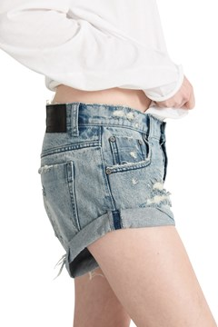Bandits Denim Short - salty dog