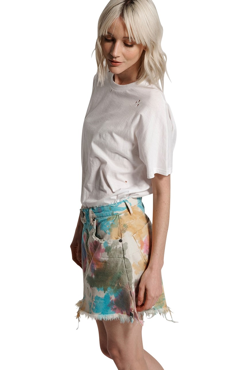 Tie Dye Vanguard Denim Skirt