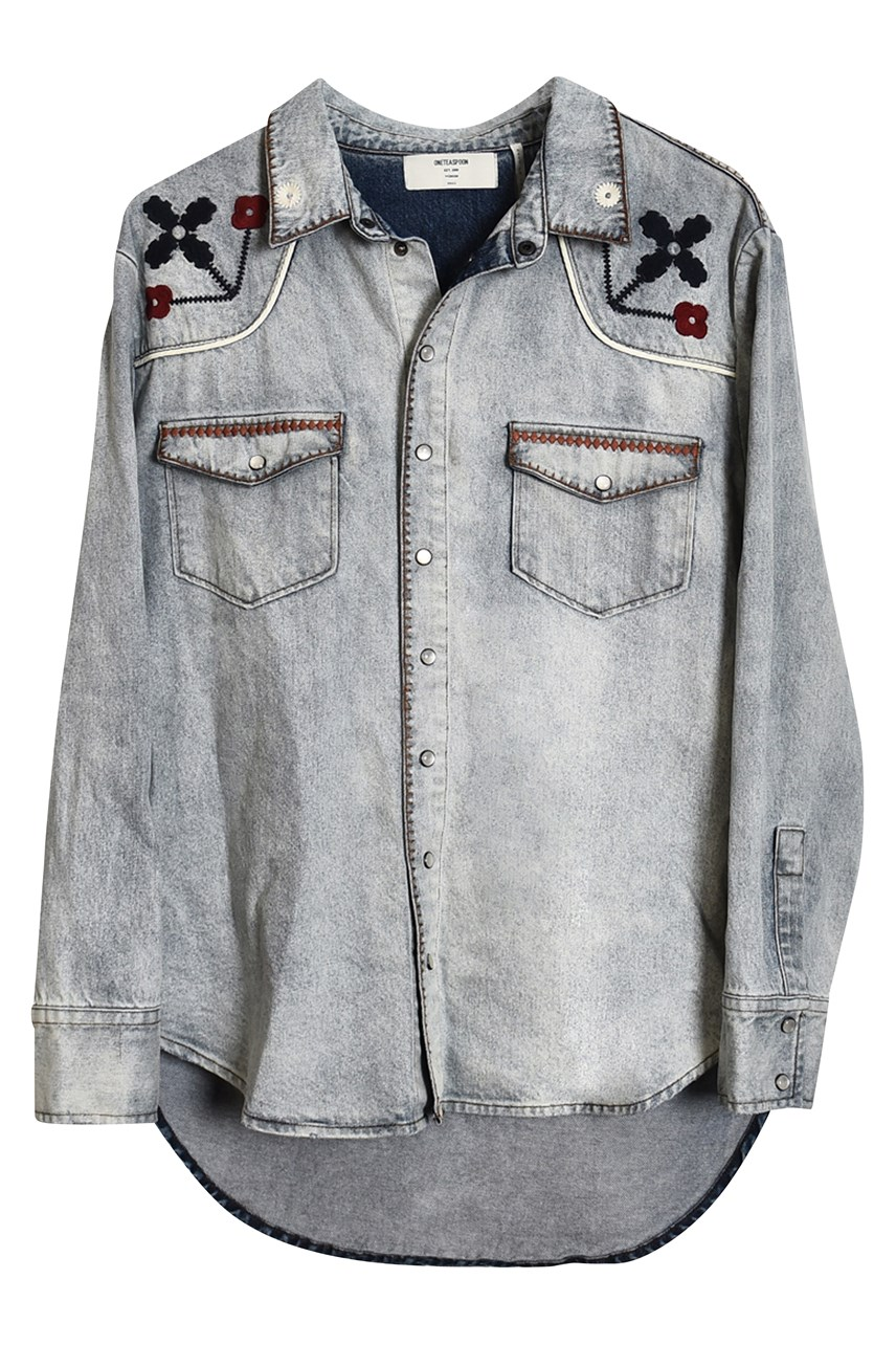 Woodstock Embroidered Western Shirt