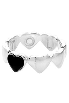 Band Of Hearts Ring BLACK ONYX 1