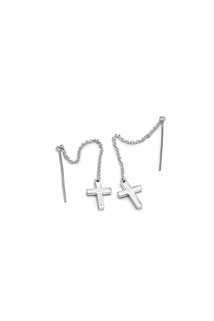 Falling Stolen Cross Earrings