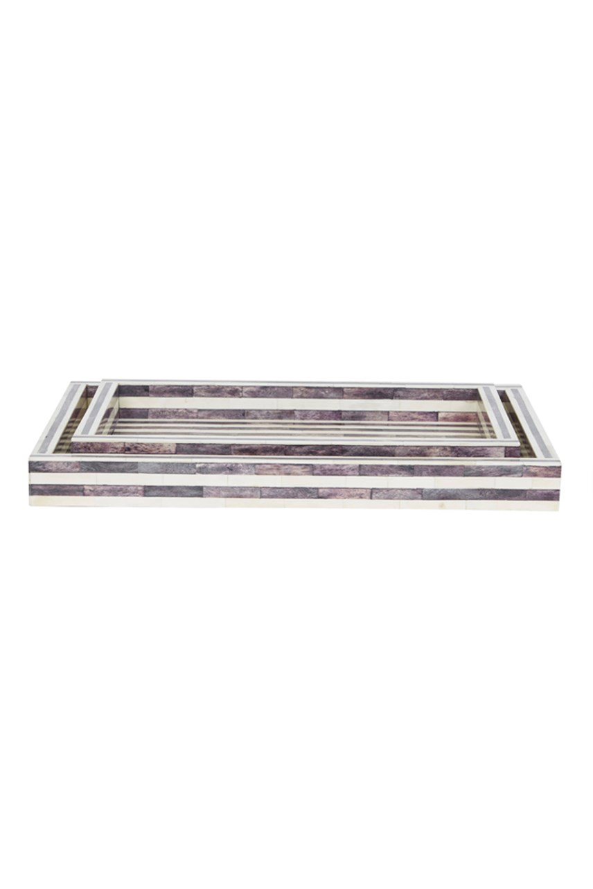 Taj Stripe Bone Tray