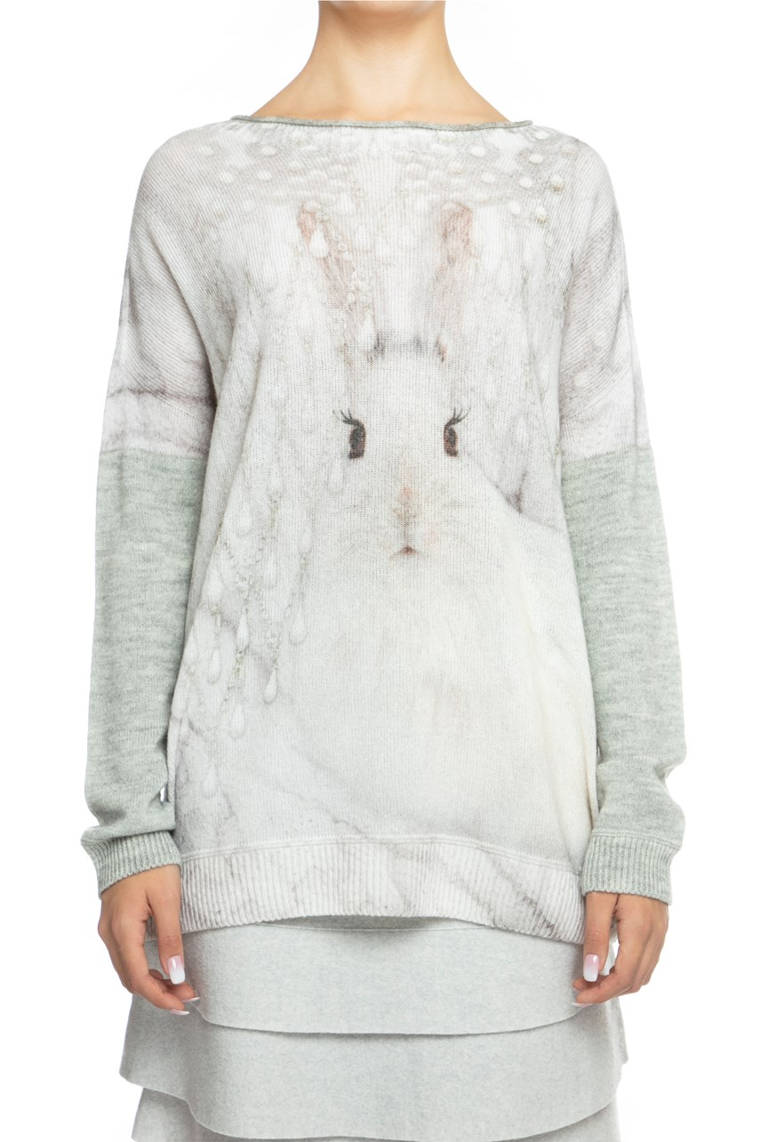 Majestic Rabbit Knit Sweater