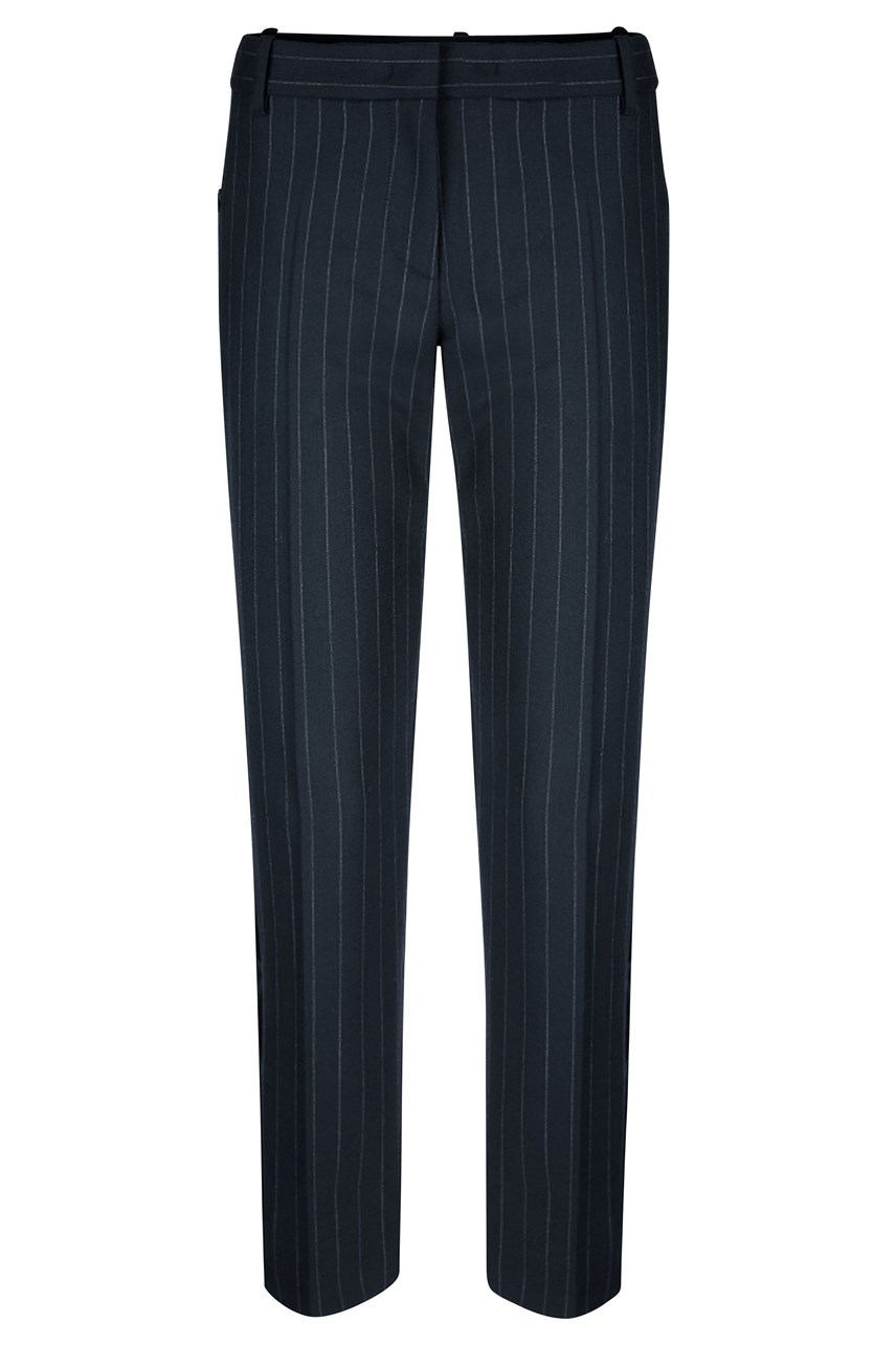 Cropped Pinstripe Pants